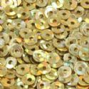 Sequins, Mustard, Diameter 3mm, 3350 pieces, 10g, Disc shape, Sequins are shiny, [CZP271]